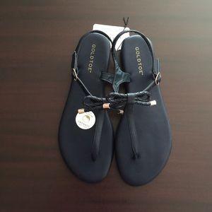 GOLD TOE T-Strap Sandals